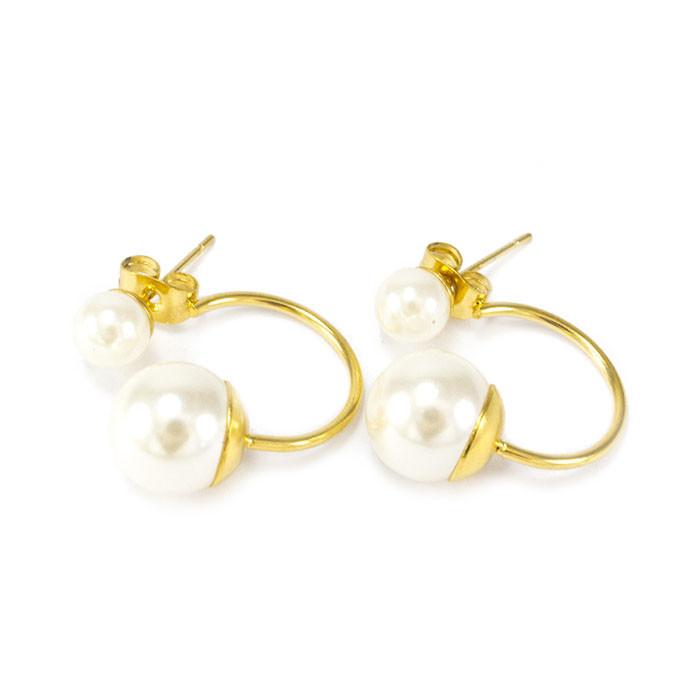 Сережки-гвоздики в стиле Dior мини белые Арт. ER028SL