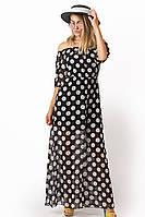 Женское шифоновое платье в пол №10-12