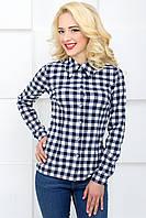 Женская рубашка в клетку 2071 белый