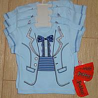 Детская футболка с бабочкой для маленьких