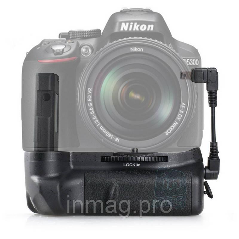Батарейный блок MB-D51 для Nikon D5100, D5200, D5300 + кабель.