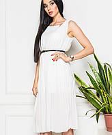 Легкое летнее шифоновое платье (13411br)