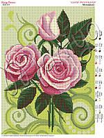 Схема для вышивания бисером Мелодия роз (полная зашивка)