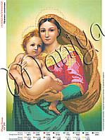 Схема для вышивания бисером Мадонна с младенцем