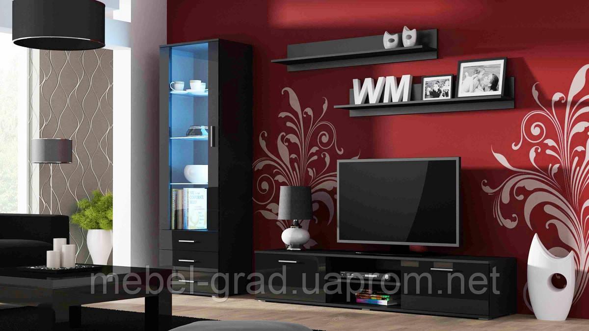 Гостиная Soho 1 Cama Meble черный / черный глянец