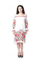 Платье коктельное льняное FER