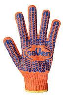 Рабочие перчатки оранжевые с ПВХ точкой