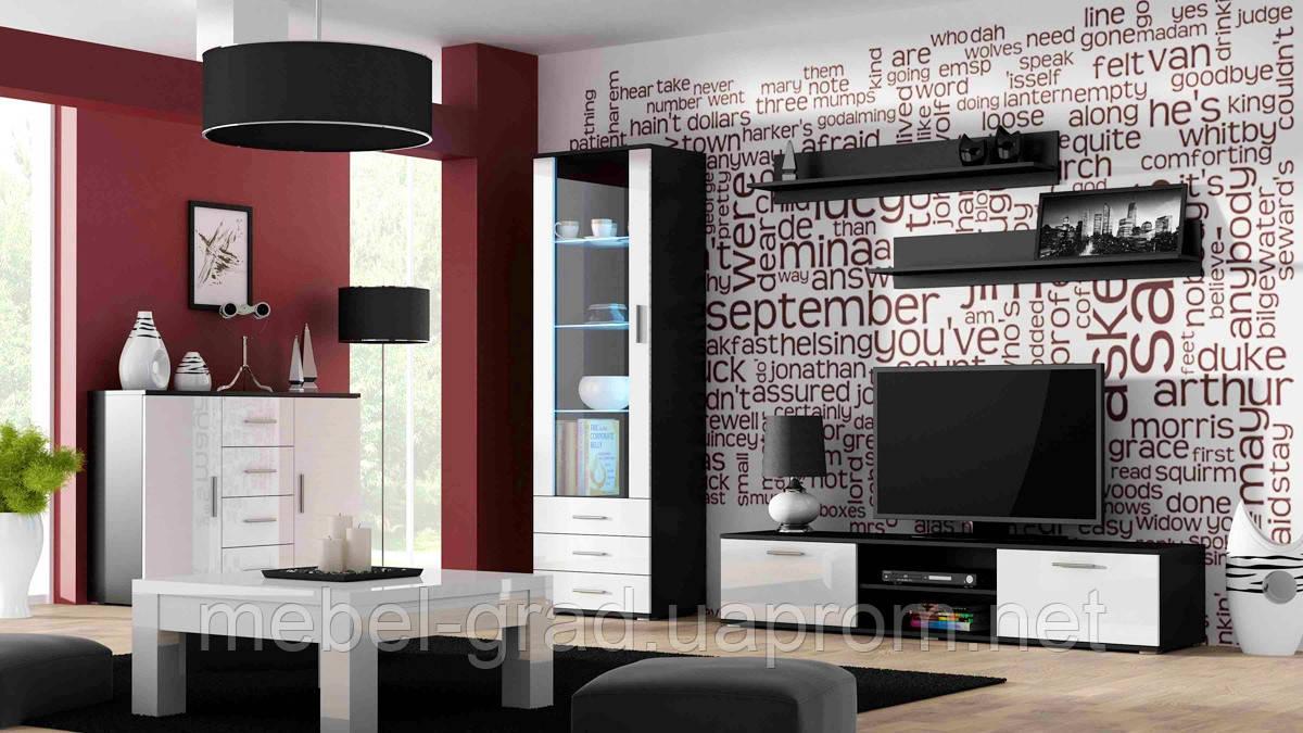 Гостиная Soho 2 Cama Meble черный / белый глянец