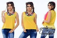 Блузка (42, 44, 46) —  бенгалин  от компании Discounter.top42