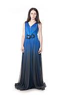 Платье турецкое вечернее синее фирма Dawn Line