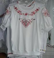 Блузка трикотажная с вышивкой