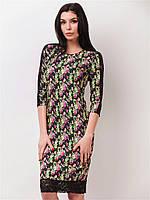 Женское платье с кружевными вставками рукав 3/4 90174/1, фото 1