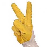 """Рукавички робочі """"ГР"""" з жовтим латексним покриттям"""