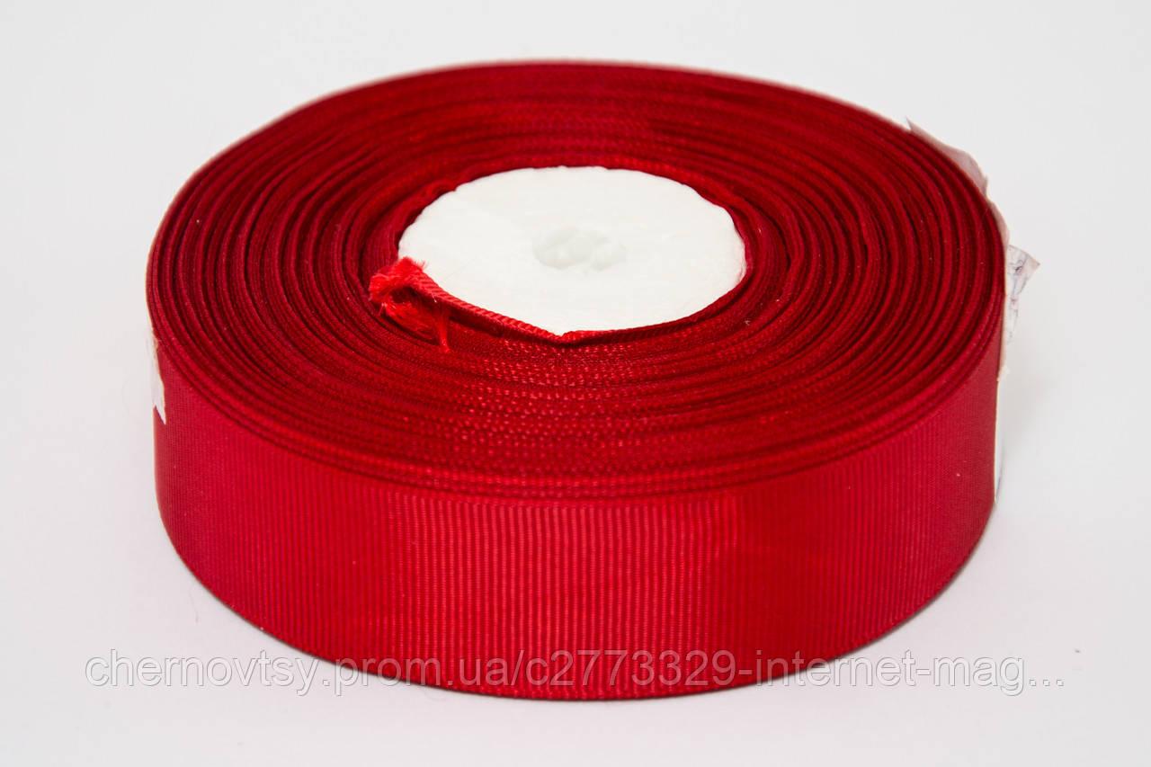 Лента репс 0.6 см, 23 м, № 33 ярко бордовый