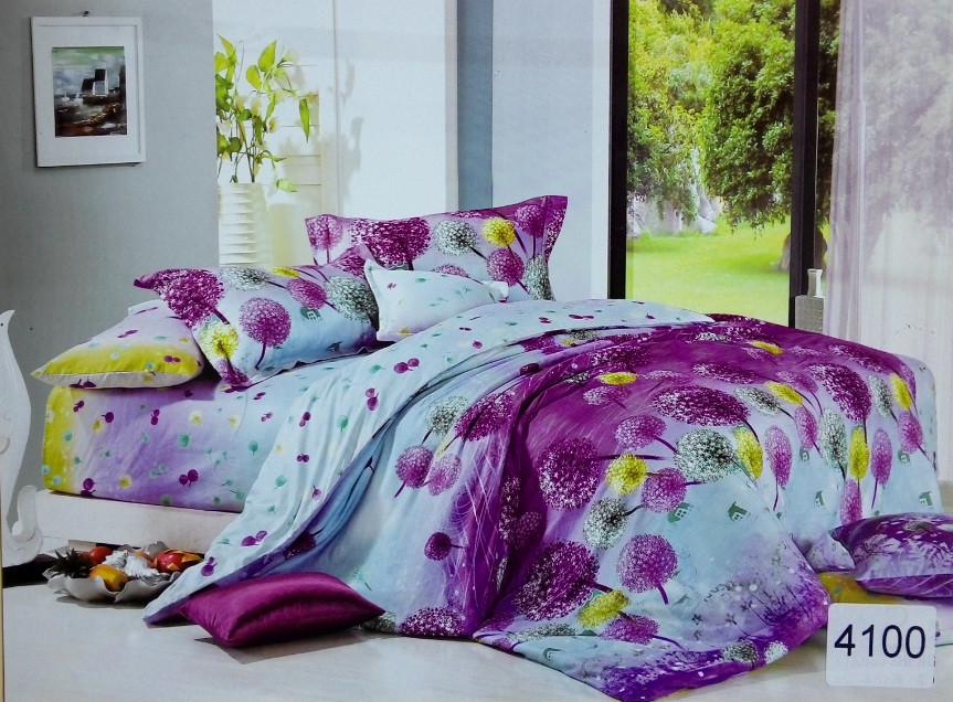 Сатиновое постельное белье полуторное ELWAY 4100