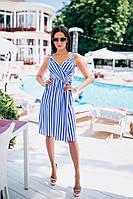 Женское платье (42, 44, 46) — штапель  от компании Discounter.top