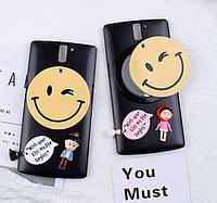 "OnePlus One Оригинальный чехол ПАНЕЛЬ НАКЛАДКА БАМПЕР с ЗЕРКАЛЬЦЕМ на телефон ""SMILE Mir"""