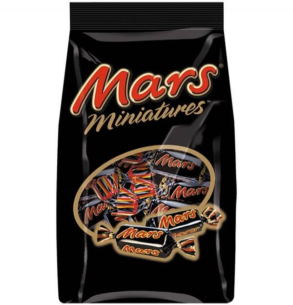 Шоколадные конфеты Mars Miniatures, 150 гр.