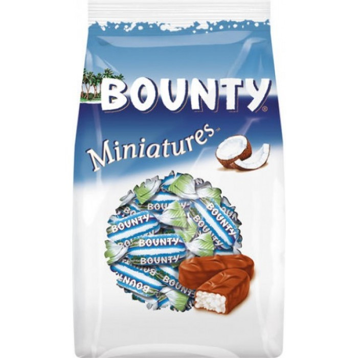 Шоколадные конфеты Bounty Miniatures, 150 гр.