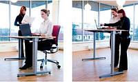 Suspa ELS 3 - Эргономичный офисный стол класса люкс для работы сидя-стоя с электроприводом