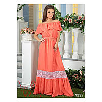 Женское платье (42-44, 46-48, 50-52, 54-56) — штапель от компании Discounter.top