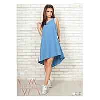 Женское платье (42-44, 46-48, 50-52, 54-56, 58-60) — двухнитка купить в розницу в одессе  7км