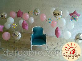 №5 Оформлення фотозоны гелієвими кулями Дніпро