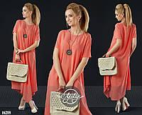Женское платье (42-44, 46-48, 50-52, 54-56, 58-60) — штапель от компании Discounter.top