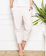 Женские светлые летние брюки (8615br)