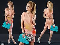 Женское платье (42 44 46 48 50 52 54 56) — лён купить в розницу в одессе  7км