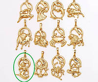 Кулон Позолота 18к Знак зодиака Дева 07531997035-6