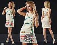 Женское платье (42 44 46 48 50) — лён купить в розницу в одессе  7км