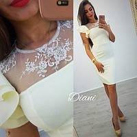 Женское платье (S, M) — креп костюмка  от компании Discounter.top
