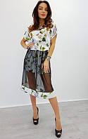 Женское платье (универсал) — шелк +евро-сетка  купить в розницу в одессе  7км