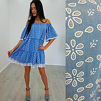 Женское платье (S-M) —джинс   купить в розницу в одессе  7км