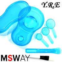 Набор для приготовления масок косметический 5в1 (двойная миска) 40395