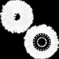 Круглая насадка моп, плоская запаска на диске сменная, 158 мм