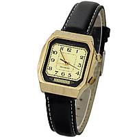 Полет 18 камней сделано в СССР позолоченные часы с будильником, фото 1