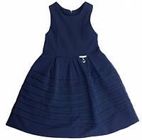 Школьный сарафан Jennifer TM Newpoint синий с карманами размеры 116 122146