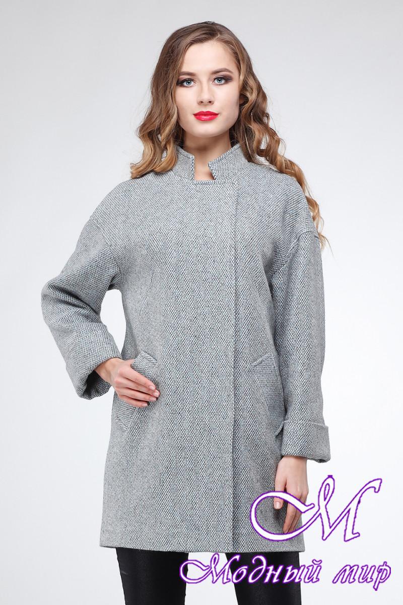 Стильное женское пальто большого размера (р. 42-54) арт. Марьям