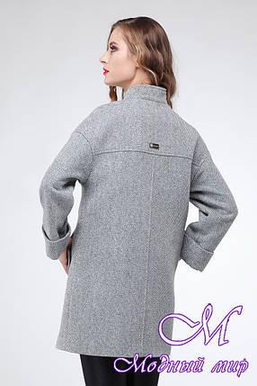 Стильное женское пальто большого размера (р. 42-54) арт. Марьям, фото 2