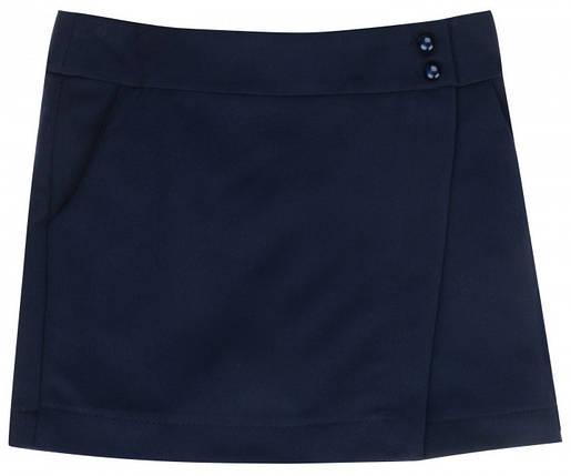 Юбка-шорты школьная Anita ТМ Newpoint синяя размеры 128 , фото 2