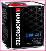 Моторное масло NANOPROTEC 0W-40, 1л, фото 1