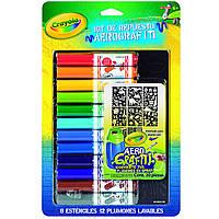 Crayola Marker и Stencil Pack, моющиеся маркеры и трафаретные листы