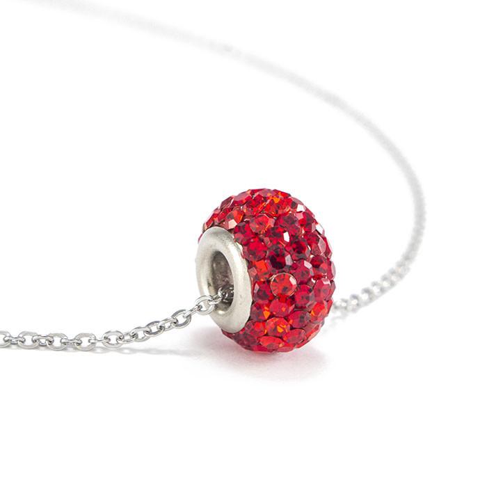 Кулон Кристальный круг красный Арт. PD147SL
