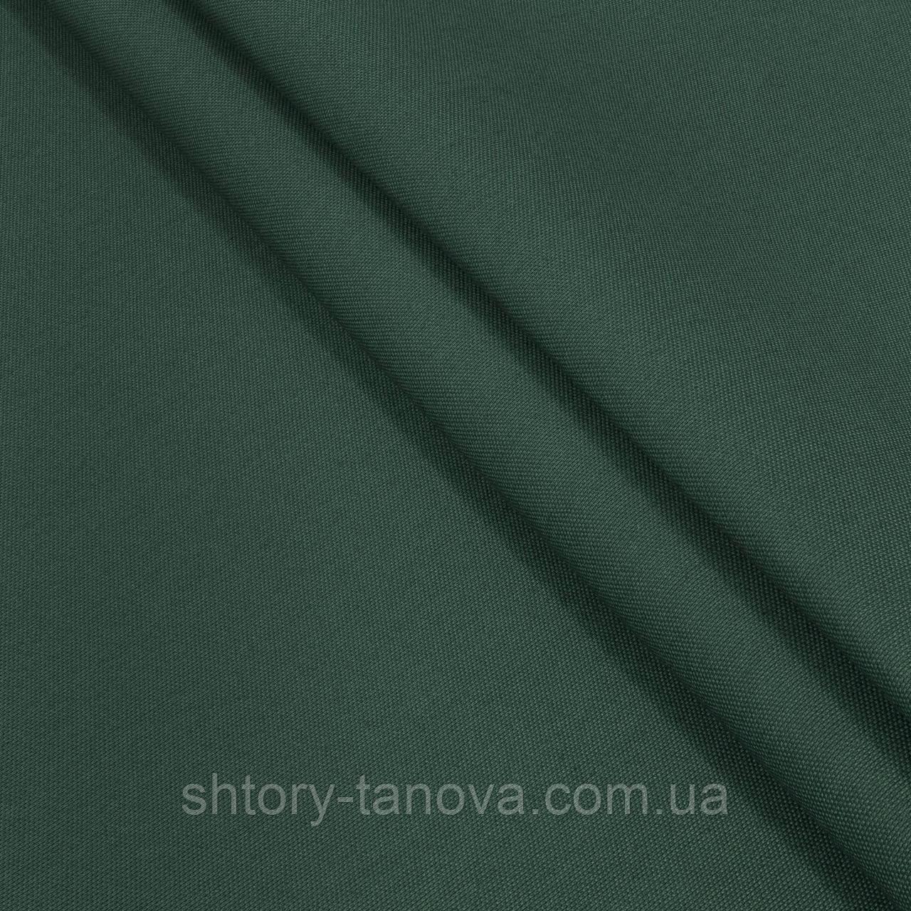 Испания натуральная ткань для штор с тефлоновым покрытием тёмно-зелёный