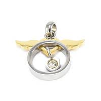 Кулон Круг с золотистыми крыльями Арт. PD019SL