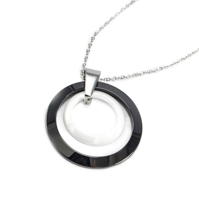 Кулон керамический два круга Арт. PD007CR