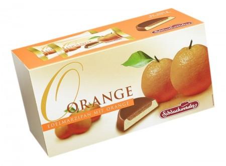 Марципан в шоколаде Schluckwerder Edelmarzipan Orange с апельсиновым джемом, 300 грамм