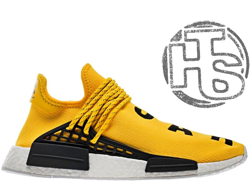 Мужские кроссовки Adidas Originals x Pharrell Williams NMD Yellow BB0619